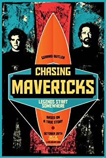 CHASING MAVERICKS (2012) Original Authentic Movie Poster 27x40 - Double-Sided - Leven Rambin - Gerard Butler - Elizabeth Shue - Abigail Spencer