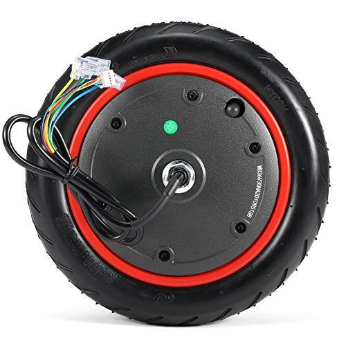 ZHHOOHAG Ruedas De Scooter Motor de la Rueda de 350W Motor eléctrico Scooter de 8,9 Pulgadas Piezas de Repuesto de la Rueda Accesorios de Scooter Ruedas Scooter 110mm (Color : Red)