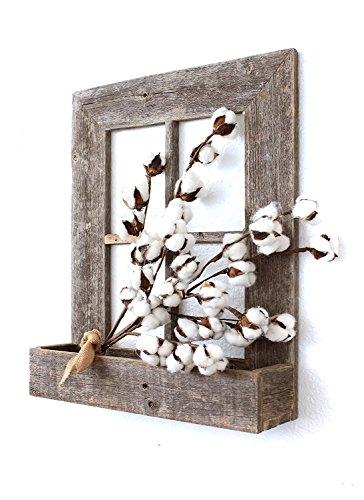 BarnwoodUSA Rustic Window Planter Frame - 100% Reclaimed Wood, Weathered Gray