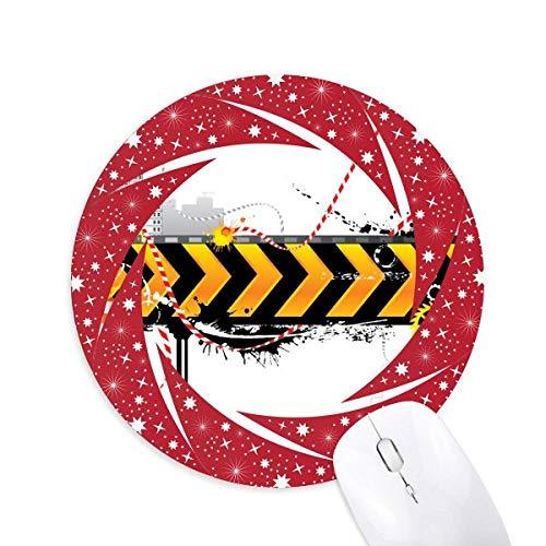 le logo jaune et noire des bandes tapis de souris rouges rondes roues en caoutchouc