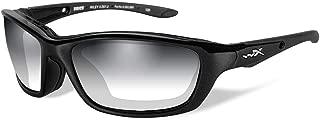 Wiley X Brick Sunglasses, Metallic Black Frame, Photochromic Smoke Grey Lens