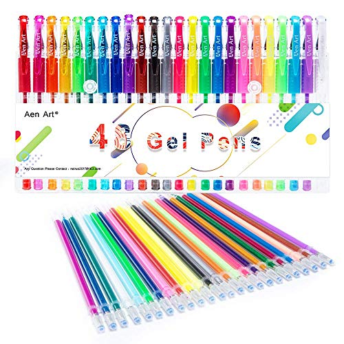 Gel Pens Colored Gel Pen Set with Refills for Adult Coloring Books, 48