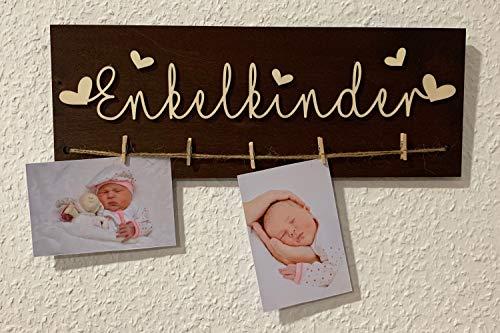 DRYSSON Enkelkinder Geschenk für Oma und Opa Bilderrahmen Rahmen Bilder Idee zum Geburtstag