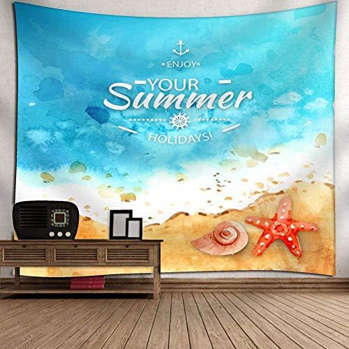 Tapijtwerk,s Zomer Opknoping Boheemse Strandlaken Polyester Dunne Deken Yoga Sjaal Mat Dekens Strandhoes voor Kinderen -51x59inch (130x150cm)
