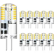 AMBOTHER G4 LED Lampen, 3W 300LM Warmweiß 48x 3014SMD LED ersetzt 30W Halogenlampen, G4 LED Birnen Leuchtmittel Glühbirnen, AC/DC 12V Kein Flackern Nicht Dimmbar, 10er Pack