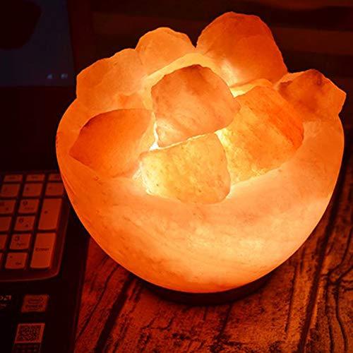 Zout Fire Bowl Lamp Gemaakt van 100% Authentieke Natuurlijke Roze Himalaya Crystal Rock Zout Premium en Fijne Kwaliteit (1 KG Zoutblok)