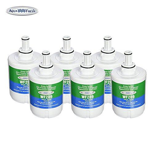 Aqua Fresh WF289Ersatz für Samsung DA29–00003G, DA29–00003B, hafcu1Kühlschrank Wasser Filter 6 Pack
