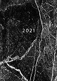 2021: ENE - DIC Agenda Semanal   Tamaño A5   1 Semana en 2 Páginas   Planificador Mensual Calendario Semana Vista Planner Organizador Anual   Black Marble
