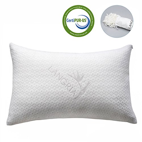 LANGRIA Shredded Memory Foam Pillow