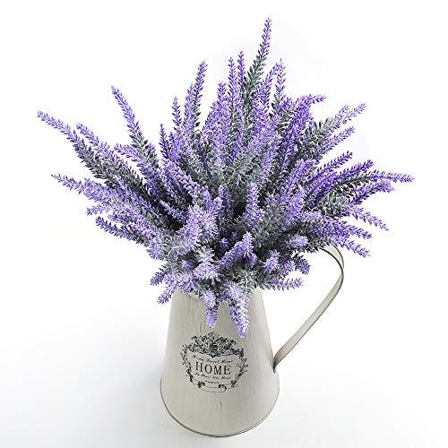 Artificial Lavender Flowers Bouquet Fake Lavender Plant for Wedding Home Garden Decor 8 Bundles