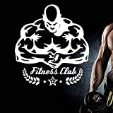 ASFGA Fitness Aufkleber Gym Aufkleber Bodybuilding Poster