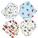 La Vogue 4Packs Toddler Kids Cartoon Potty Training Pants Babys Cotton Washable Training