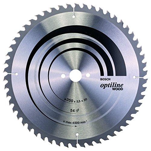 Bosch 2 608 640 674 - Hoja de sierra circular Optiline Wood - 350 x 30 x 3,5 mm, 54 (pack de 1)