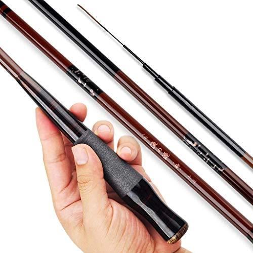 BAIYAN Canne da Pesca, Palo da Pesca Crucian Carp Rod Ultra-Light Ultra-Fine Ultra-Hard Taiwan Pesca Canna da Pesca Asta Canna da Pesca Canna da Pesca Canna da Pesca (Dimensioni: 4.5 Metri)