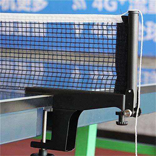 MAATCHH Niños y Niñas Table Tenis Red y Post Set Fun Time Anywhere - Longitud Ajustable - Se Adapta a Cualquier Mesa para el Tenis (Color : Black, Size : One Szie)