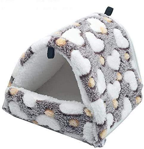 JINTN Warm Haustierbett Hundehütte Schlafsack Baumwolle Höhle Hamster Chihuahua Katzenbett Weicher Haustier Nest Kratzfeste Kuschelhöhle für kleine mittelgroße Hunde Katzen