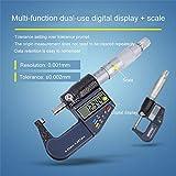 Micrómetro digital, micrómetro electrónico exterior 0-25/25-50/50-75/75-100 mm 0,001 mm métrico/pulgadas indicador electrónico de punta de carburo herramientas de medición