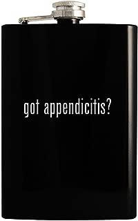 got appendicitis? - Black 8oz Hip Drinking Alcohol Flask