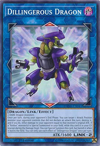 Yu-Gi-Oh! - Dilingerous Dragon - DANE-EN041 - Common - 1st Edition - Dark Neostorm
