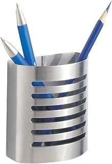 """قلم مدرن مغناطیسی و دارنده مداد ، InterDesign Forma ، نگهدارنده ظروف فلزی برای آشپزخانه ، قفل ، خانه یا محل کار ، 3.25 """"x 1.75"""" x 3.50 """"، فولاد ضد زنگ قلم مو"""