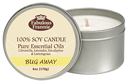Fabulous Frannie Bug Away 6oz All Natural Soy Candle Made with Pure Essential Oils