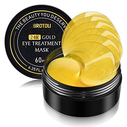 BROTOU Augenpads, Eye Mask, 24k Gold Kollagen Augenmaske, Anti-Aging Pads - Für Moisturising, Entlasten Sie Müdigkeit und straffe Haut 30 Pairs