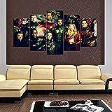 TTRRAA Lienzo Impreso Arte De La Pared 5 Piezas Héroes de Infinity Wars Moderno Cuadro En Lienzo, DecoracióN Mural Dormitorio Sala De Estar PóSter Regalo - Con Marco 100×55cm
