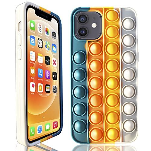 Bubble Cases for iPhone 11 Cute Bubble-Popping Decompression Fidget Bubble Wrap Cases Stress Relief