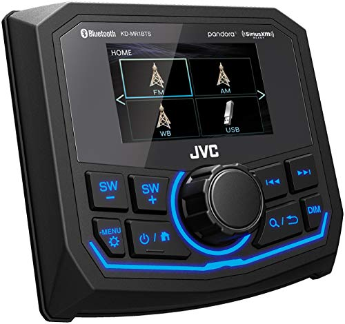 "JVC KD-MR1BTS Marine/Motorsports Digital Media Receiver with USB, 2.7"" Color Display, Weather Band, and Camera Ready"