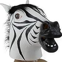 Die Halloween Maske ist aus Latex hergestellt. Mit dieser einzigartigen Pferdemaske verbreiten Sie Angst,Spaß und Schrecken! Die perfekte Dekoration für Themen Bar und Club. Ihr Party Partner für Karneval, Halloween, Oktoberfest und jede Mottoparty! ...