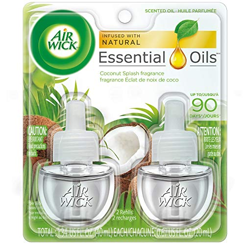 Air Wick Essential Oils Coconut Splash (2X.67) oz (Pack of 5)