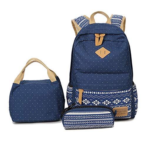 JIELANGSHI Mochila Escolar para niños (Azul)