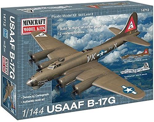 venta caliente Minicraft Models 1 144 Scale B-17G B-17G B-17G U.S.A.A.F Mery's Madhouse Model Kit  muy popular