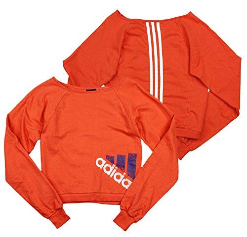 adidas Youth Big Girls Wardrobe Dance Sweatshirt Red