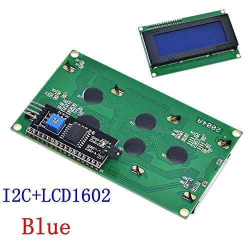 LCD2004 + I2C 2004 20x4 2004A Blau/Green Screen HD44780 Character LCD/w IIC / I2C Serial Interface-Adapter-Modul for Arduino (Color : I2 LCD2004 Blue)