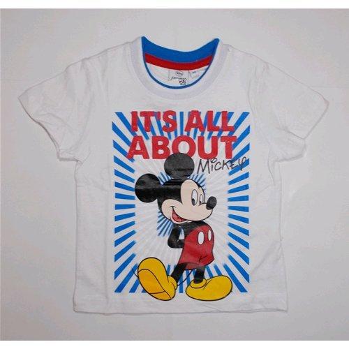 T-shirt t-shirt d'été Mickey Disney enfant garçon 3/8 ans – oe1308/2 anni 08 bianco