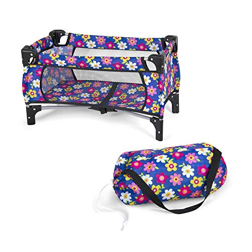 fash n kolor Baby Doll Crib Set with Pack n Play Bassinet Blanket & Carry Bag for Baby Doll | Baby Doll Crib Set for Kids