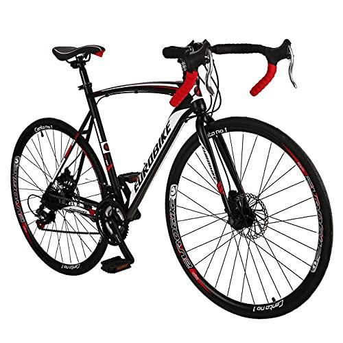 Eurobike 21 Speed XC550 Road Bike 54 cm Frame 700C L Rim Regular Spoke Wheels Road Bicycle