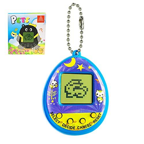 Yeelan Virtuelle Haustiere Spielzeug Digitale Haustier-Spielekonsole Handheld-Spielzeug Mimi Elektronische Tiere Mit Schlüsselring Frühpädagogisches Puzzle-Geschenk für Kinder Kinder (Blau)