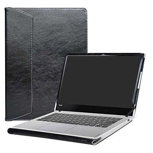 Alapmk Diseñado Especialmente La Funda Protectora de Cuero de PU Para 13.9' Lenovo Yoga 920 920-13ikb/Yoga 910 910-13ikb Ordenador portátil,Negro