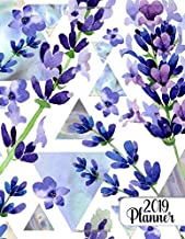 2019 planner: Wildflower lavender floral 2019 planner organizer with weekly views, inspirational quotes, to-do lists, funn...
