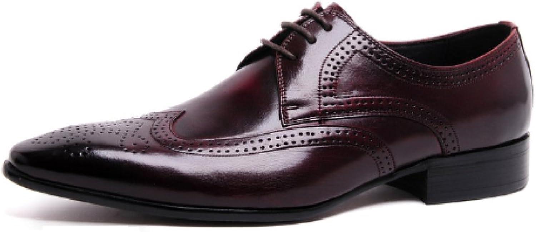 NIUMT herrar herrar herrar läder skor, Business, bröllop skor, mode skor, Point, Comfortable, Weather, Andable  bästa service