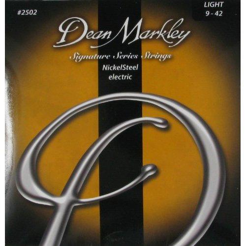 Dean Markley NickelSteel Electric LT 2502 - Juego de cuerdas para guitarra eléctrica de acero de níquel, 009-042