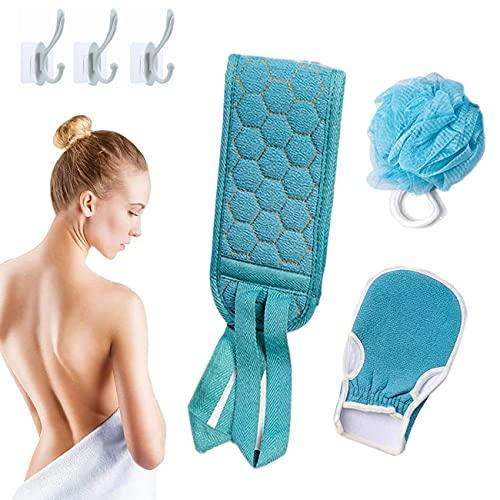 goldmiky Peelinghandschuh Körper Set - 3 Stück Hamam Peeling Handschuh für Körper und Gesicht Massagehandschuh Reinigt Porentief für Körper & Gesicht,Körperpeeling Handschuhe fur Hautschüppchen