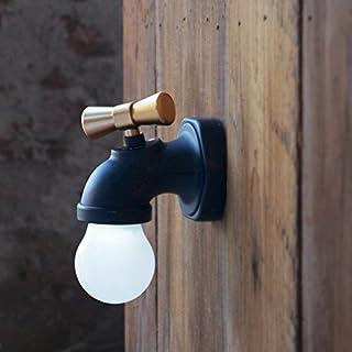 Vetrineinrete/® Applique a parete a forma di rubinetto di stile industriale con portalampada in canapa e27 vintage N9