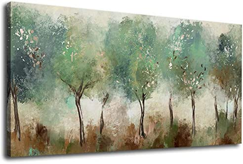 Abstract Wall Art Green Modern Canvas Pictures Contemporary Canvas Artwork for Bedroom Living product image