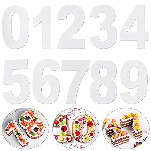 LYTIVAGEN Kuchen Zahlenform Zahlen Kuchenform Backform Torte Zahlen Vorlage Zahlenform zum Backen 0-9 Große Anzahl Back Kuchen Form für Geburtstag, Hochzeit, Jahrestag Tortendekoration