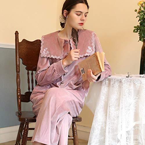 STJDM Bata de Noche,Winter Pink Women Sleep Pajama Sets...