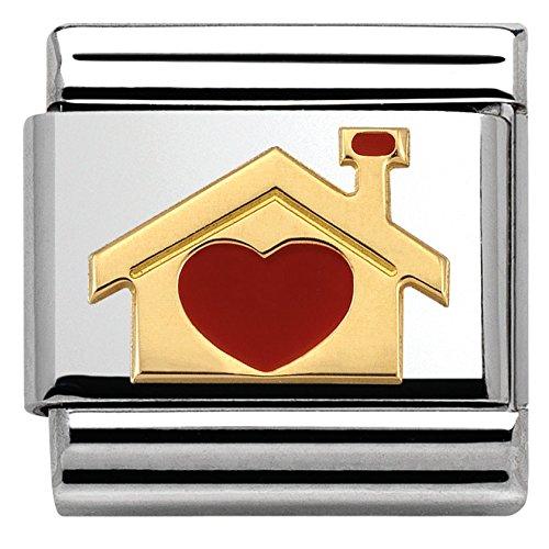 Nomination Damen-Armband Composable Classic Love 2 (Haus mit Herz) Edelstahl 1 cm - 030283/07