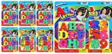 ABC Magnetic Letters Party Favor Bundle (6 Packs Assorted 4&2) by JA-Ru Learning Letter Best Alphabet Magnet for Refrigerator Fun & Spelling Games Toys (4) ABC(2) 123-1405-6s